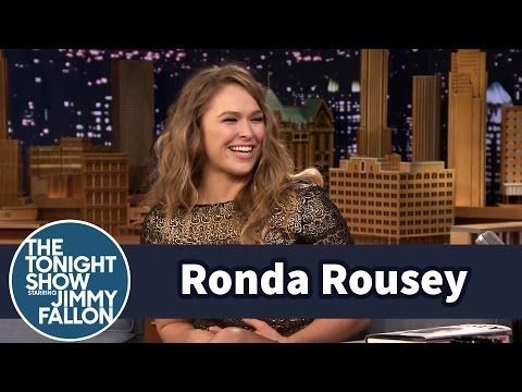 The Tonight Show Starring Jimmy Fallon: Ronda Rousey Demonstrates Infamous Armbar on Jimmy