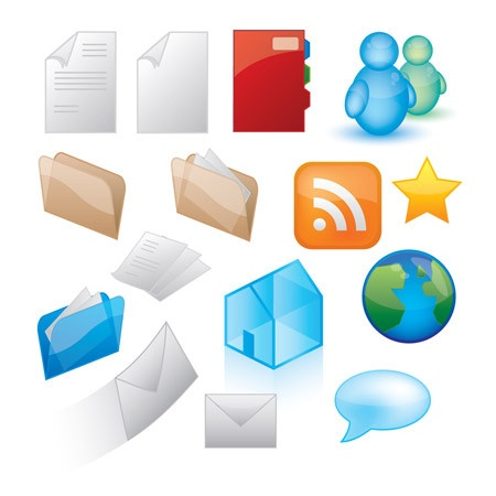 These great glossy vector icons were created by SpoonGraphics #social #media #icon #vector #free