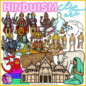 Hinduism clip art ideal for your religious education resources!Product includes: Atman Brahma Caste System Cow Ganesha Ganga Hindu Temple Hindu Symbol Kali Krishna Parvati Puja (worship) Samsara (Reincarnation) Shiva Vedas VishnuEach image is 300dpi, closely cropped with a transparent background, and they come in both color and black and white!Enjoy! ***************************************************************************Check out these other great related products!