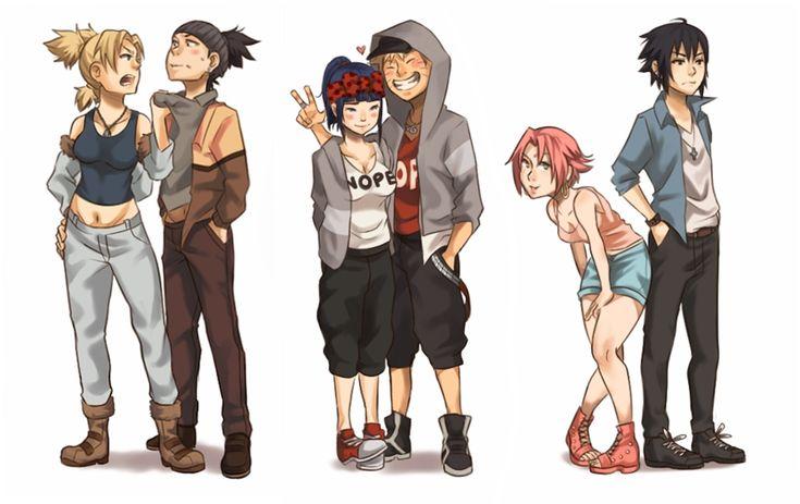 Temari, Shikamaru, Hinata, Naruto, Sakura, and Sasuke #casual