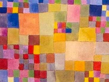 #paulklee watercolor geometric