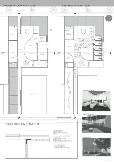 29 best images about architecture portfolio on pinterest for Architecture noir et blanc