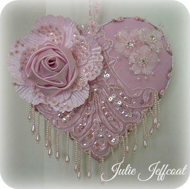 **Pink Applique Heart!