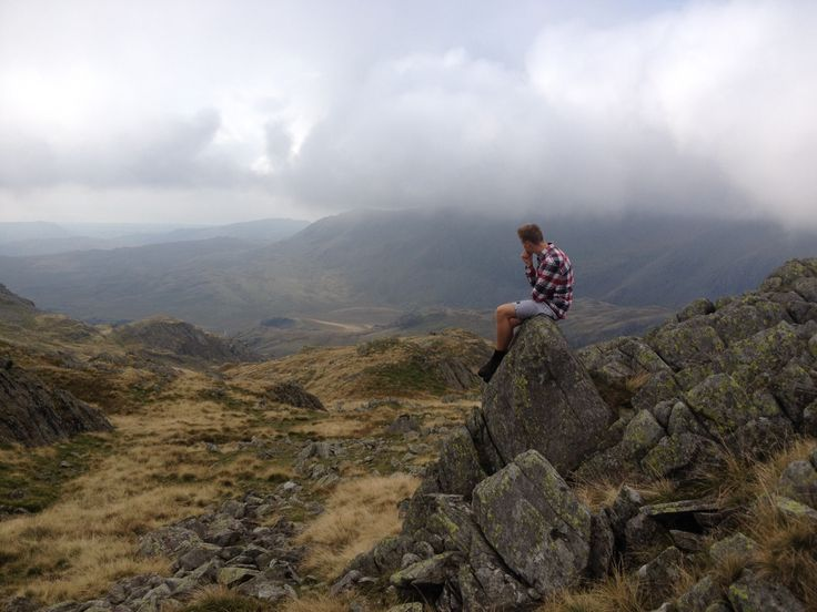 Crinkle Crags, The Lake District - My son Harry taking it all in Sept 14
