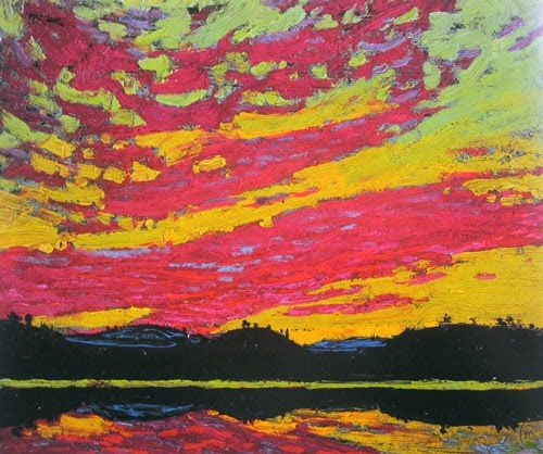 Tom Thomson, Canadian painter, often erroneously believed to be a member of the Group of Seven. Thomson, who died in 1917 under mysterious circumstances, is widely regarded as one of Canada's most iconic landscape painters.   Tumblr