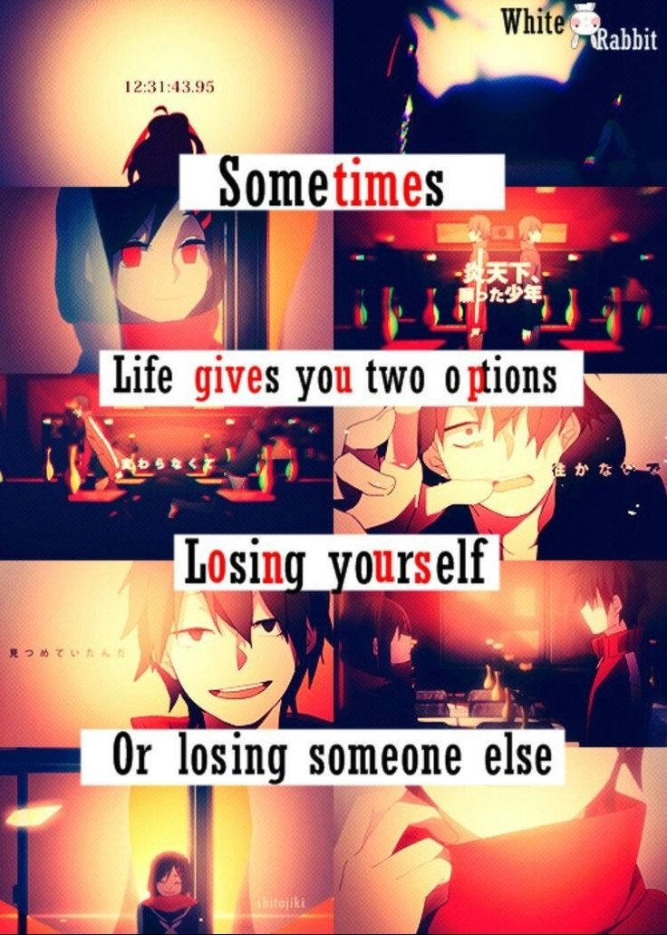 How about losing yourself when you lose someone?