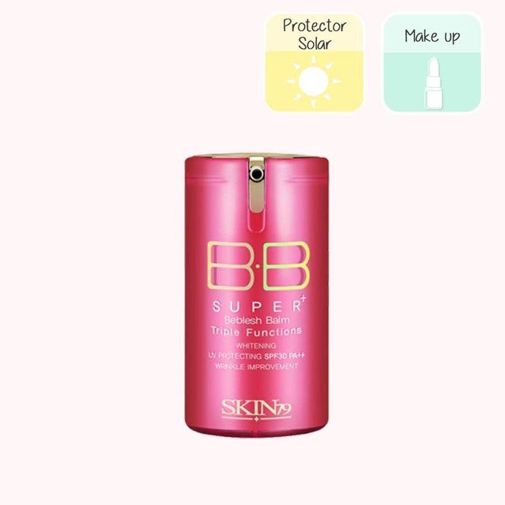 SKIN79 HOT PINK SUPER+ BEBLESH BALM RENEWAL Esta BB Cream es sin duda uno de nuestros cosméticos coreanos favoritos. Si no lo has probado aún, haznos caso, ¡tienes que probarlo! Es todo un Ferrari de las BB Cream. Con 10 efectos en 1, este producto hidrata, controla la grasa, protege del sol (SPF 30/PA++), sirve como maquillaje, aporta suavidad y luminosidad, cubre imperfecciones, tonifica la piel, trata las manchas y las arrugas, tiene efecto calmante...(sigue)