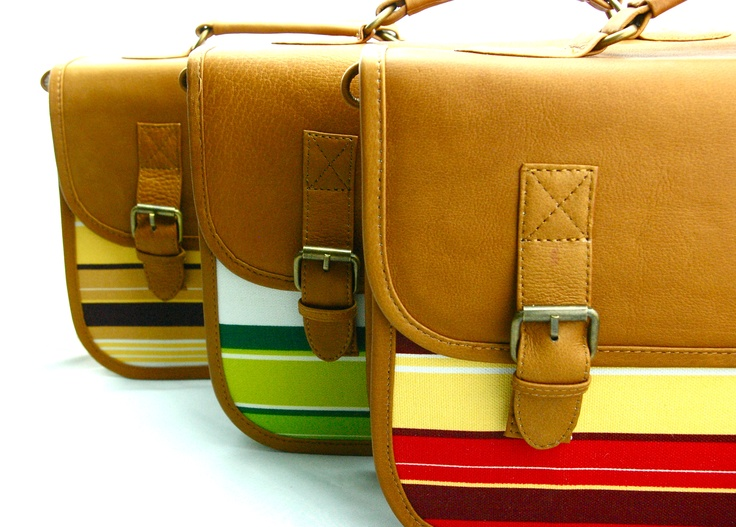"New collection of #University #handbag: ""Miami sunset"", ""Lime & Lemon"" and ""Red fruits"". Now avaliable through #Kickstarter"