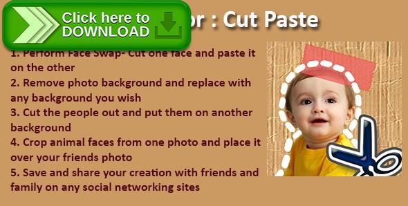[ThemeForest]Free nulled download Photo Editor: Cut Paste from http://zippyfile.download/f.php?id=50713 Tags: ecommerce, android, application, apps, code, Copy Paste Photos, Cut Paste Photos, face swap, full, Photo Background Changer, photo editing, source