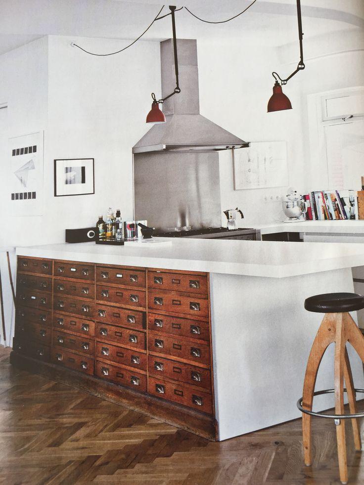 Küche mit Apothekerschrank - schöner wohnen Januar 2016