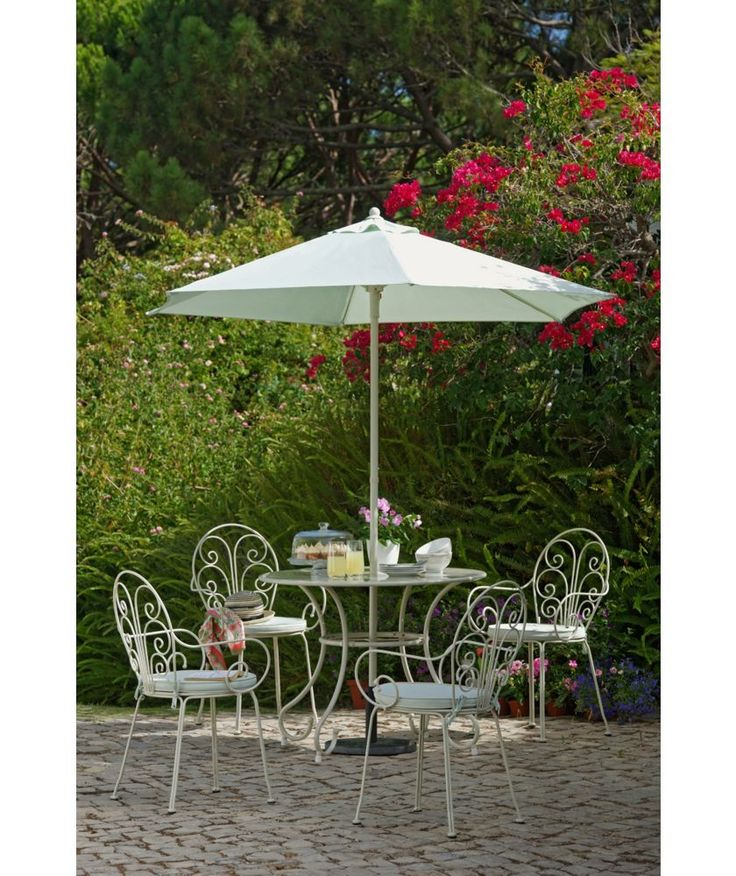 18999 buy heart of house jasmin 4 seater patio furniture set with parasol cushions
