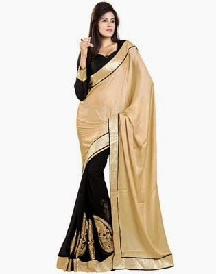 Natwar Creations Self Design Bollywood Satin Sari In Rs.614 (67% Off)
