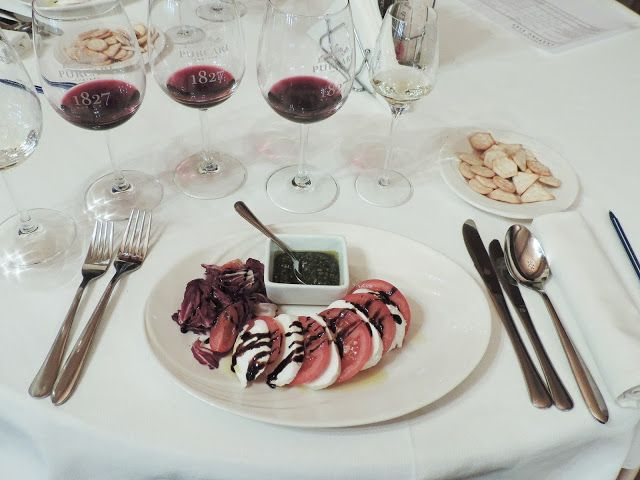 Delicious dinner and wine at Purcari Winery, Pucari, Moldova.
