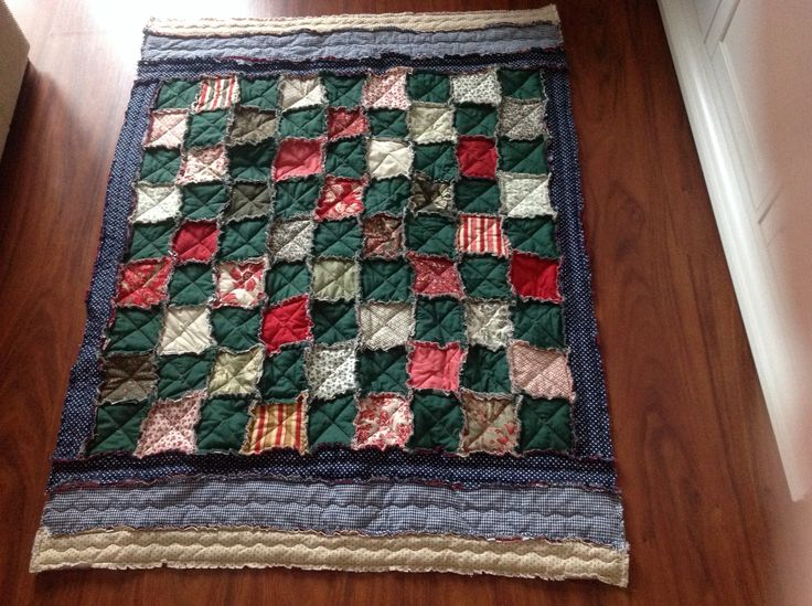 Rag quilt, made-by-anne.blogspot.com