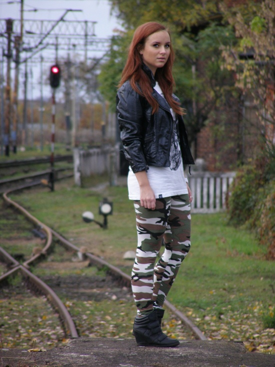 www.lubieczern.blogspot.com  fashion blog, blogspot, lubieczern blog, camo leggins