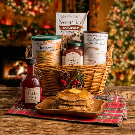 Happy holidays merry christmas stonewall for Christmas kitchen gift basket ideas