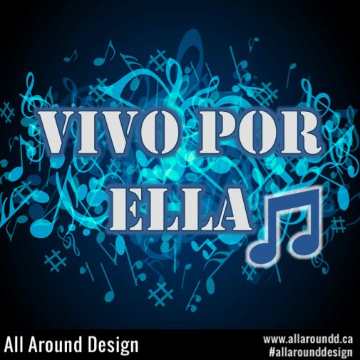 All Around Design: Do you like music? We love #music, and since it is international we have created this #design to the very talented Andrea Bocelli for his great song Vivo Por Ella ft. Marta Sanchez. - Click here to see our other #cool music related images and designs.