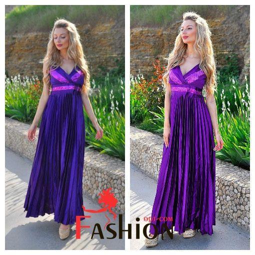 🌸7️⃣5️⃣0️⃣руб🌸 Платье вечернее в пол с юбкой гофре MQ3083/А Размер: S; M; L Производитель: FIRST WOMAN Ткань: Атлас;Пайетка Длина: Макси Цвета: фиолетовый, синий.