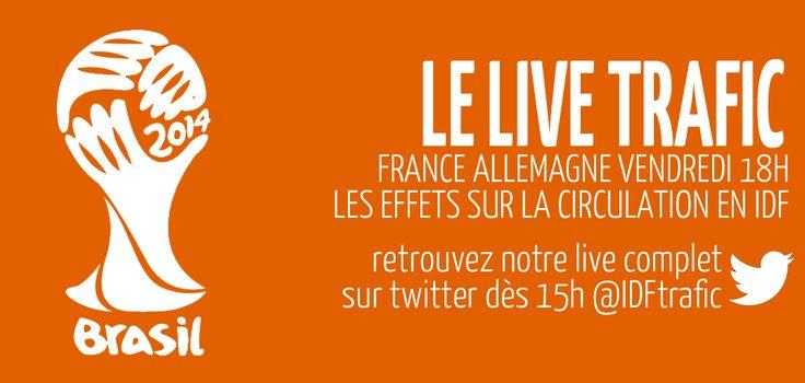 #FRANCEALLEMAGNE Le LiveTrafic pour suivre les effets sur la circulation à #Paris et en #Ile-de-France vendredi dès 15h.