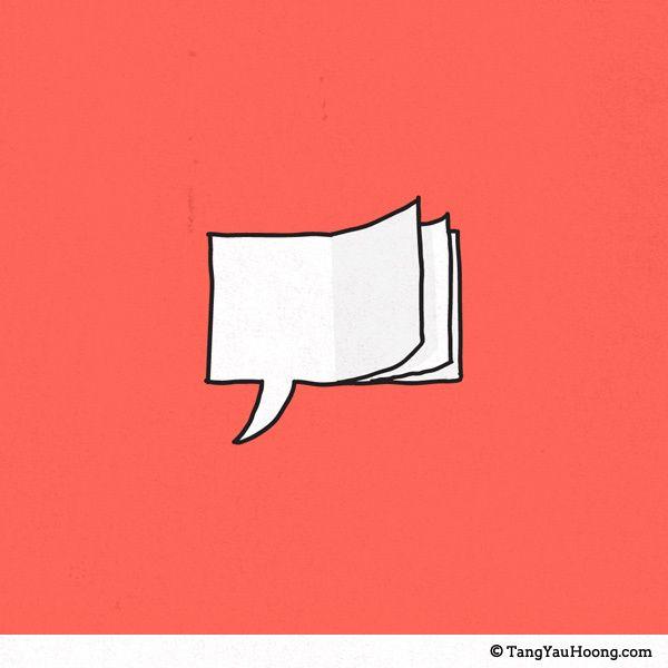 Sua fala reflete o que você lê