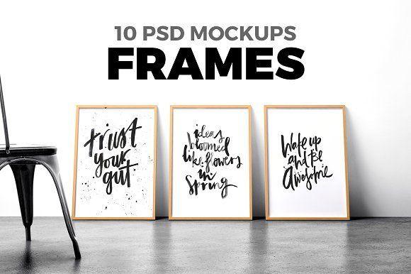 free Poster Mockup Set: mock ups, free frame mock up, #mockup,   by Egor Shkolnikov on @creativemarket