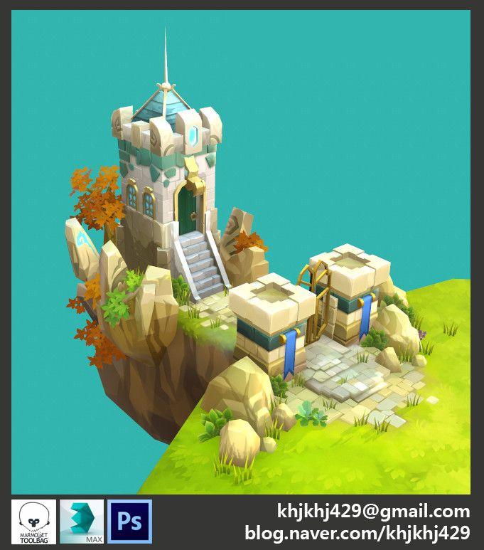Castle Kingdom_Fan art, Emma Kwon on ArtStation at www.artstation.co… – game object