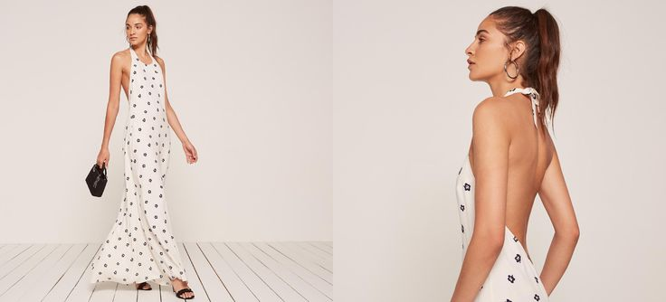 You're not wrong for wanting to look hot. #refbride This is an ankle length dress with an open back and a halter neck.