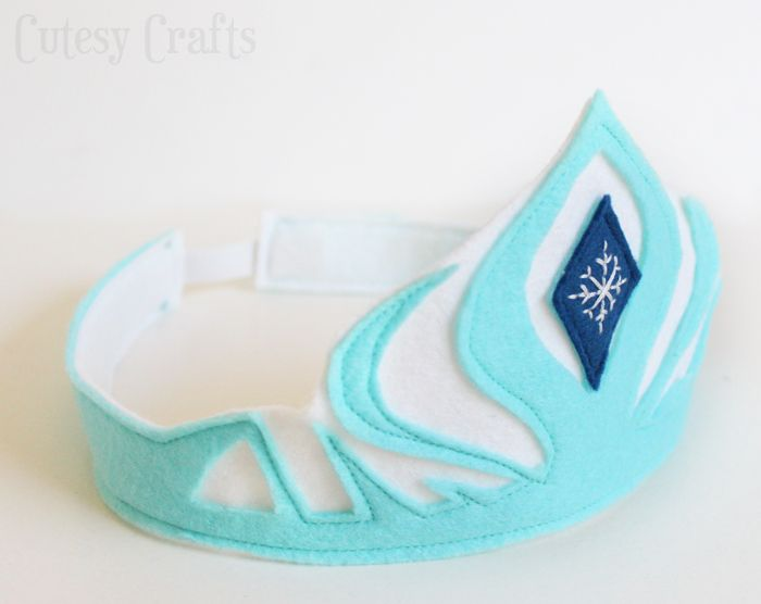 Royal Birthday Party - DIY Crown Ideas - Felt Elsa Crown Template