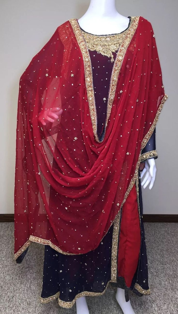 Cool Amazing Pakistani Indian Shalwar Kameez Bridal Party Wear Wedding Maroon Gown M 2018 Check more at http://shop24.ga/fashion/amazing-pakistani-indian-shalwar-kameez-bridal-party-wear-wedding-maroon-gown-m-2018/