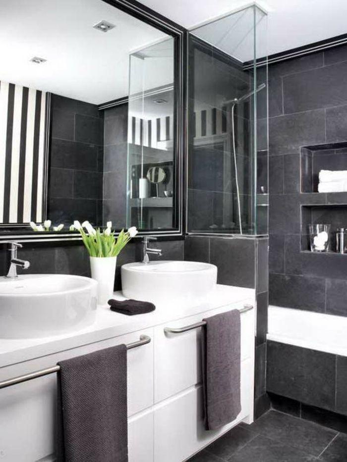 Cooles Badezimmer Einrichten Schwarz Weiss Und Grau Bad Pinterest