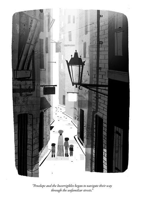Jon Klassen : Illustration from The Incorrigible Children of Ashton Place Book 2: The Hidden Gallery