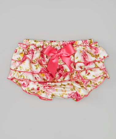 Hot Pink Floral Ruffle Bloomers - Infant & Toddler #zulily #zulilyfinds