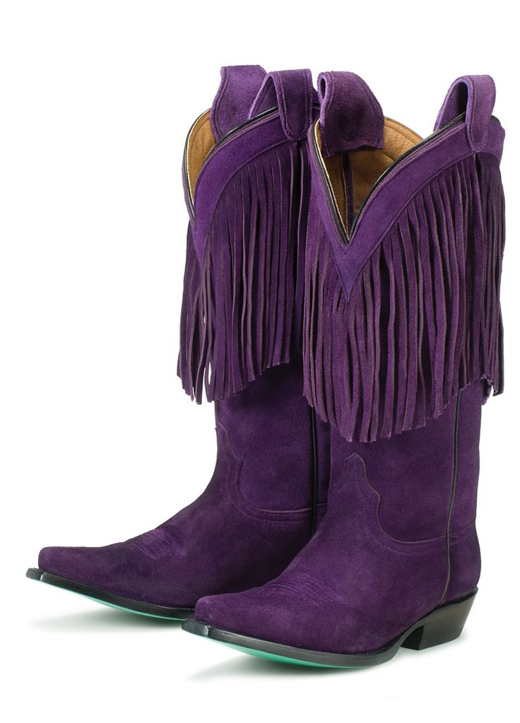 Purple fringe boots .. Oh yes! I love my fringe moccasin type boots. My next part of cowboy boots will have fringes!!
