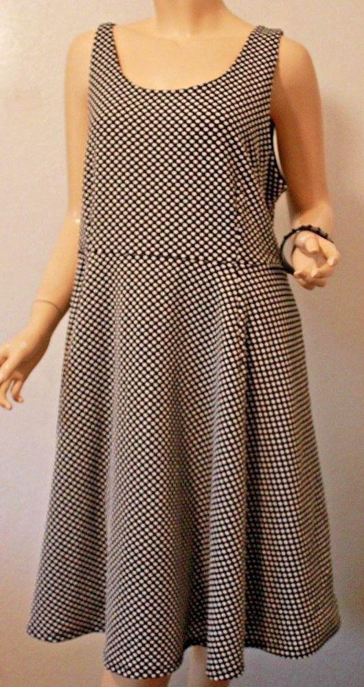 1b1382d47f Lane Bryant Black White Polka-dot Sleeveless Skater Dress Retro 16 Plus NWT   LaneBryant  ALineDressSkaterDress  Casual