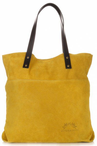 Kožené kabelky VITTORIA GOTTI ShopperBag Žlutá