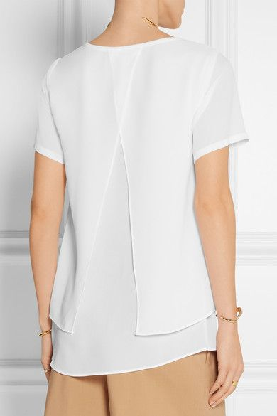 MICHAEL Michael Kors | Layered georgette top | NET-A-PORTER.COM