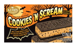 (12 Pack) Kemps Ice Cream Sandwiches Cookies 'N Scream (Limited Edition)