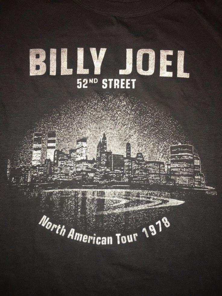 Vintage Billy Joel 52nd Street T Shirt North American Tour 1978 50/50 Fantasy #Fantasy #GraphicTee
