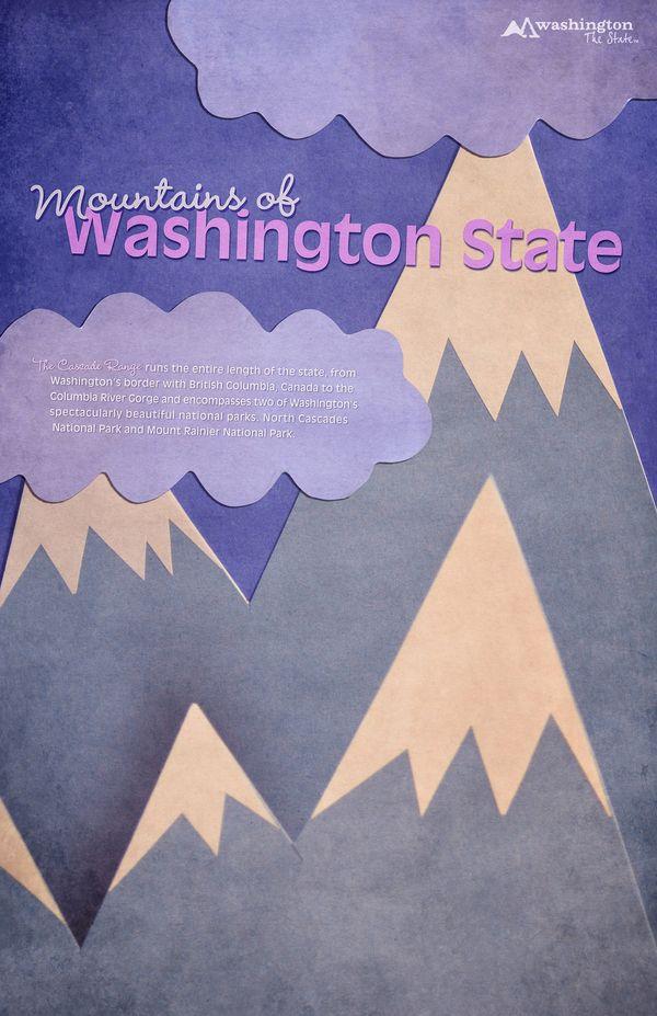 Washington State Tourism by Louisa Cranston, via Behance