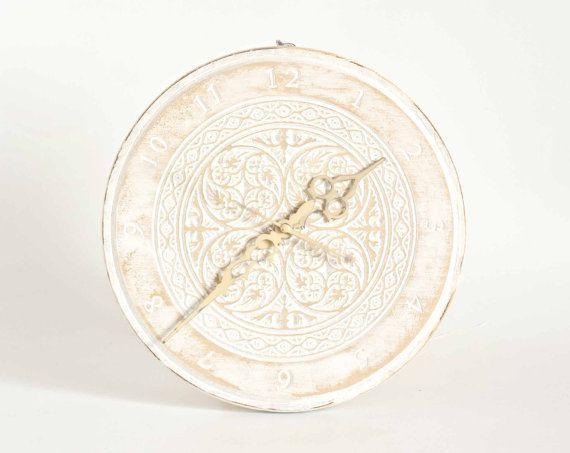 Clock, Clock gift, Vintage, Home Decor,clock white, Clock Wall, Shabby chic, gift, modern clock, wall clock