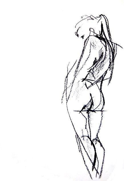 Nude Charcoal Drawing  Custom 16 x 20 Figure by CustomCharcoalArt, $50.00