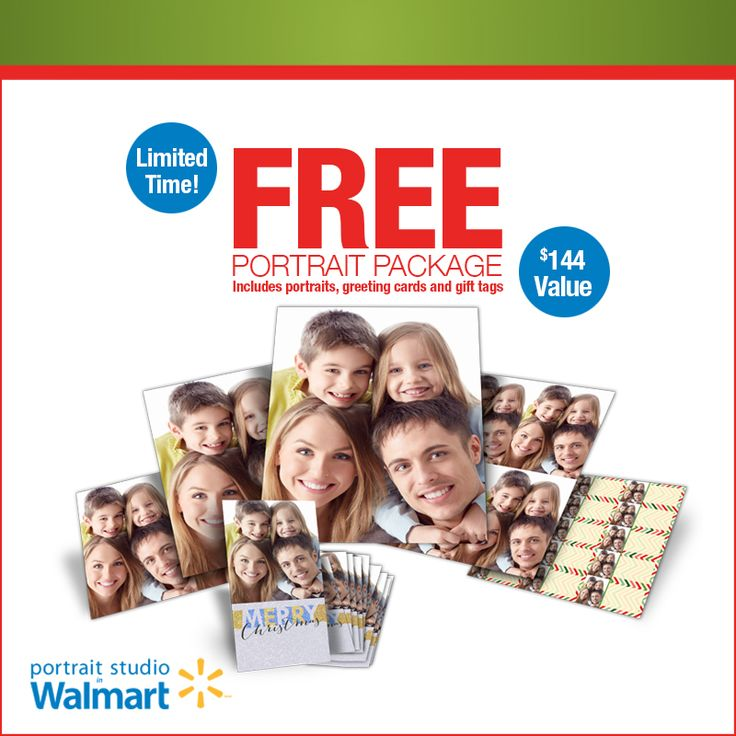 Chill out this winter by saving BIG on your family portrait needs!  FREE Portrait Package! No Purchase Necessary. Hurry - ENDS Soon! Portrait Studios in Walmart has all your portrait needs: http://walmartportraits.ca/specials/limitedtime
