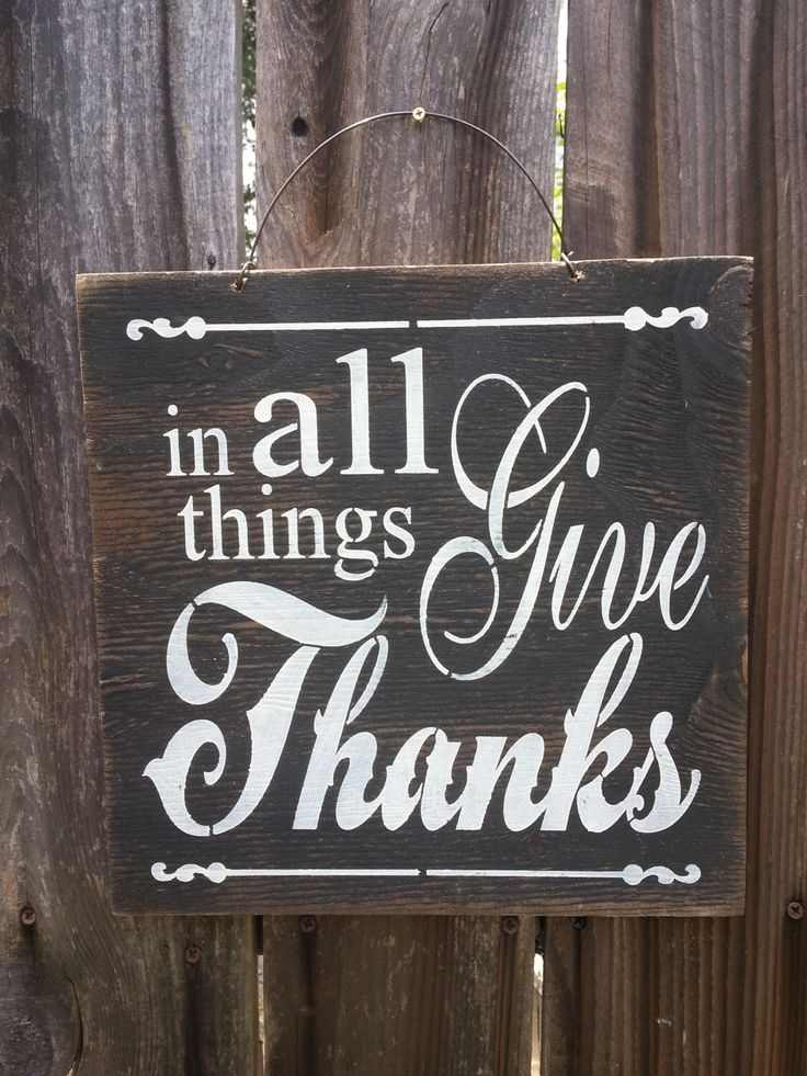 In All Things Give Thanks Sign, holiday decor, thanksgiving sign, thanksgiving decor, fall decor, thankful, gratitude, holiday sign by FarmhouseChicSigns on Etsy https://www.etsy.com/listing/216905557/in-all-things-give-thanks-sign-holiday