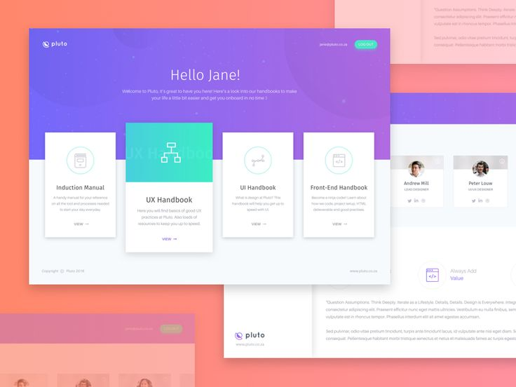 A neat concept for a collection of handbooks containing a company's standards and processes for onboarding new team members. It's a simple way to keep all content documented in one place as a quick...