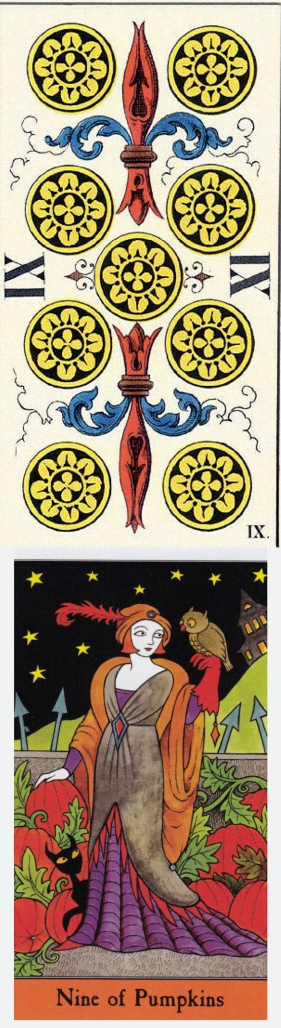 Nine of Pentacles: rewards and mistakes that have set you back (reverse). JJ Swiss Tarot deck and Halloween Tarot deck: online tarot prediction, yes no love tarot vs tarotbag. Best 2018 witch aesthetic and tarot decks for sale. #wicca #oldworldwitchcraft #swords #Wiccan