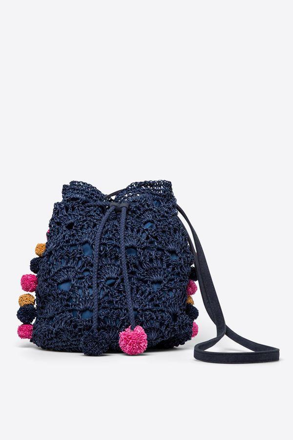 Womensecret Crochet shoulder bag, blue