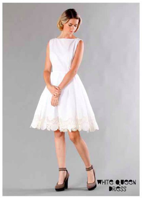 Ooby Ryn White Queen Dress