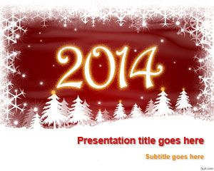 Free New Year 2014 PowerPoint template is ideal to share your new year resolution, set up new goals and send awesome greeting cards for New Year #PowerPoint