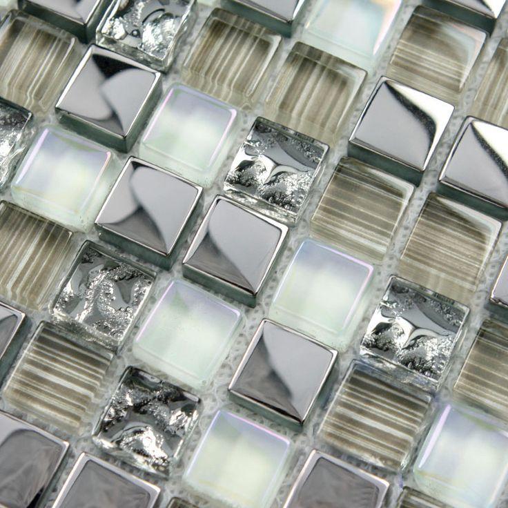 Crystal glass tile mosaic floor tile wholesale kitchen backsplash coating  tiles bathroom walls