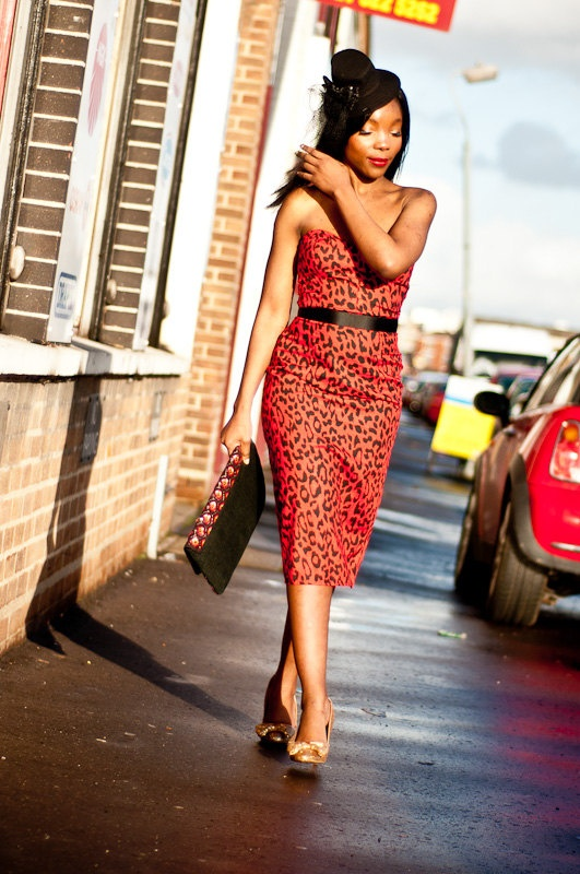 PinUp Wiggle Red Leopard Print Pencil Dress by styleiconscloset, £50.00
